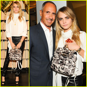 Cara Delevingne Celebrates Her New Mulberry Collection in NYC