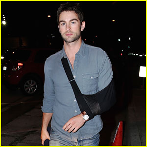 Chace Crawford Makes Wearing a Sling Look Hot