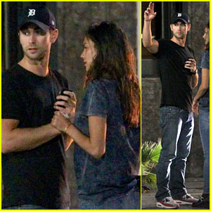 Chace Crawford Gets Cozy with a Girl After a Night Out!