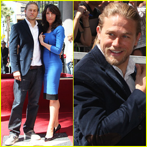 Charlie Hunnam Supports Katey Sagal at Her Hollywood Walk of Fame Ceremony!