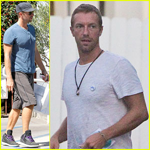 Chris Martin Reunites with Gwyneth Paltrow & the Kids