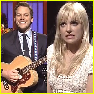 Chris Pratt Sings to Anna Faris for 'SNL' Opening Monologue!