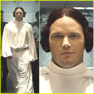 Chris Pratt Is Princess Leia for 'SNL' Marvel Spoof! (Video)