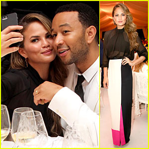 Chrissy Teigen & John Legend Are the Cutest Couple at Fight Night Dinner