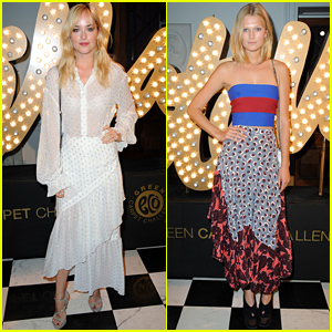 Dakota Johnson & Toni Garrn Are Blonde Bombshells at Stella McCartney's Green Carpet Collection Launch