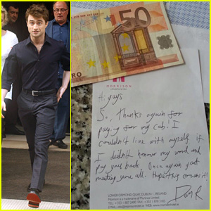 Daniel Radcliffe Pays Back Taxi Fare After Partying with Dublin Soccer Team Two Years Ago!