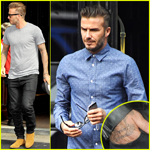 David Beckham Gets New Tattoo with Jay Z Quote 'Dream Big, Be Unrealistic' - See the Pic!
