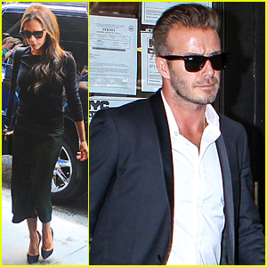 David Beckham Supports Wife Victoria Beckham At Her NYFW Show!