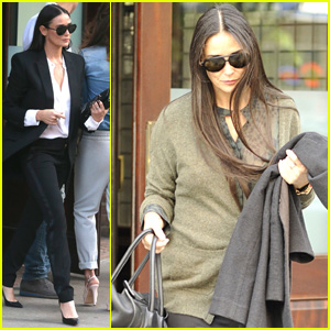 Demi Moore is a Busy City Woman in the Big Apple