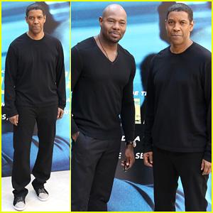 Denzel Washington Joins Director Antoine Fuqua at 'Equalizer' Paris Photo Call!
