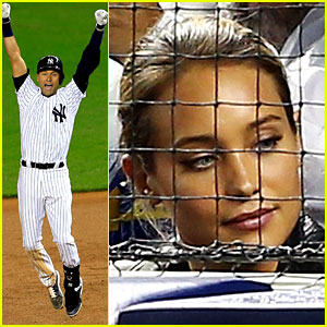 Derek Jeter's Girlfriend Hannah Davis Supports Him at Final Yankees Home Game