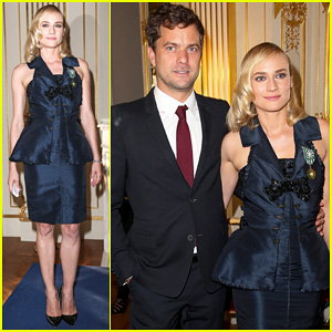 Diane Kruger Receives Medallion from Ministry of Culture with Joshua Jackson By Her Side!