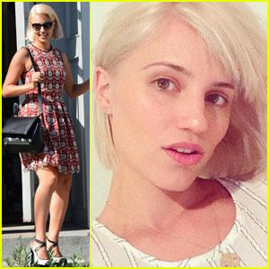 Dianna Agron is Now Platinum Blonde!