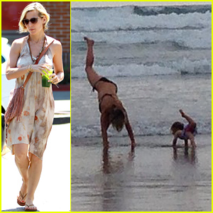 Elsa Pataky & Daughter India Do Yoga on the Beach Together - See the Pic!