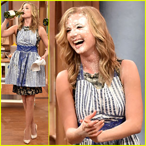 Emily VanCamp Has a Food Fight with Meredith Vieira (Video)