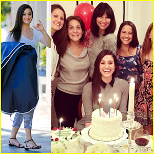Emmy Rossum Surrounds Herself With Friends & Cake on 28th Birthday!