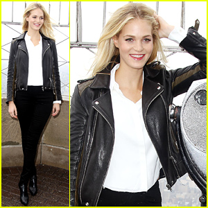 Erin Heatherton Lights the Empire State Building for the Global Citizen's Festival