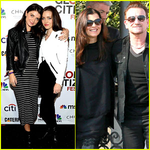 Eve Hewson Supports Global Citizen Festival While Dad Bono Attends George Clooney's Wedding!