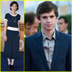 Freddie Highmore & Astrid Berges-Frisbey Attend Deauville American Film Festival 2014
