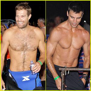 Geoff Stults & Colin Egglesfield Go Shirtless at Nautica Triathlon!