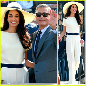 George Clooney & Wife Amal Alamuddin End Wedding Weekend with Civil Ceremony