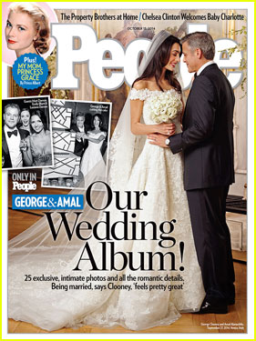 George Clooney & Amal Alamuddin's Wedding Photo - See Her Oscar De la Renta Dress!