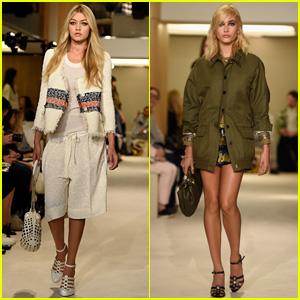 Gigi Hadid & Hailey Baldwin Hit Paris Catwalk for Sonia Rykiel
