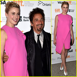 Greta Gerwig Is Pretty in Pink for 'The Humbling' TIFF Premiere!