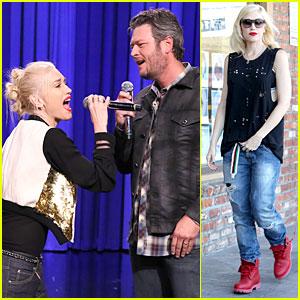 Gwen Stefani & Blake Shelton Showcase Lip Synch Skills on 'Tonight Show'