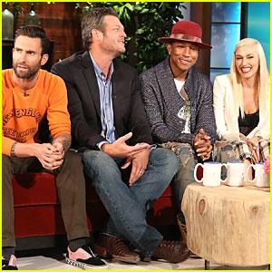 Gwen Stefani Explains Stephen Colbert Emmy Flub on 'Ellen' - Watch Now!