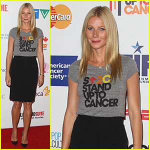 Gwyneth Paltrow Is Chic Executive Producer at Stand Up to Cancer 2014