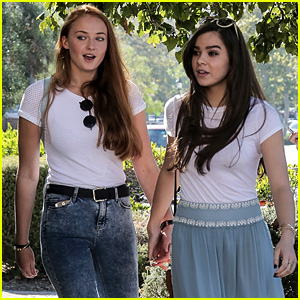 Hailee Steinfeld & Sophie Turner Hold Hands for Girls' Day Out