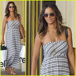 Halle Berry Shops Till She Drops at The Grove!