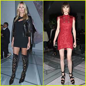Heidi Klum & Coco Rocha Rock Short Dresses at Versace Show in Milan