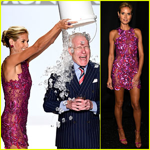 Heidi Klum Dumps Ice on Tim Gunn at 'Project Runway' Fashion Show!