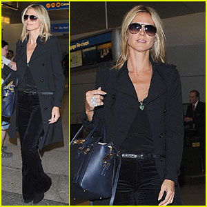 Heidi Klum Jets to Los Angeles After Weekend with Beau Vito Schnabel in Milan!