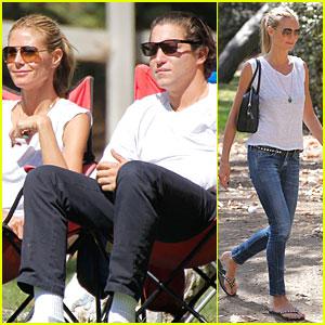 Heidi Klum & Boyfriend Vito Schnabel Root For Her Kids at Football Game