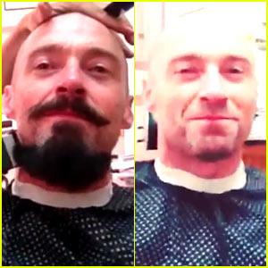 Hugh Jackman Finally Shaves Off His Blackbeard Beard! (Video)