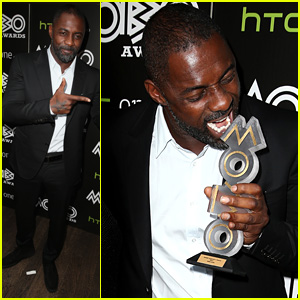Idris Elba Takes a Bite Out of His Mobo Inspiration Award