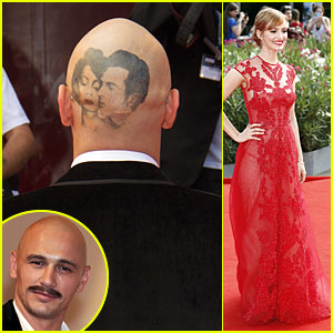 James Franco Sports Head Tattoo at 'Sound and the Fury' Premiere in Venice