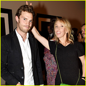Jamie Dornan Steps Out to Support 'Fifty Shades' Director Sam Taylor-Johnson at Photographic Art Exhibit