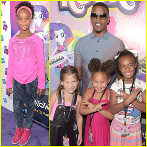 Jamie Foxx & Quvenzhane Wallis Have 'My Little Pony' Reunion