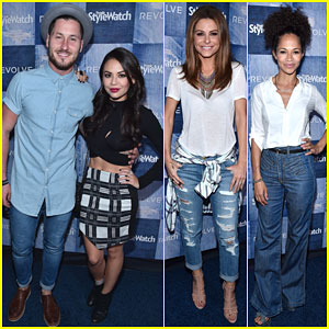 Janel Parrish Hits the People StyleWatch Denim Event with Partner Val Chmerkovskiy