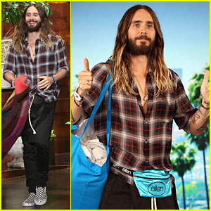 Jared Leto Puts Two Thumbs Up For a Fanny Pack on 'Ellen'