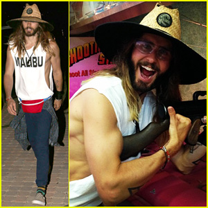 Jared Leto Shows Off His Sculpted Biceps for 'Target Practice' at the Malibu Chili Cook-Off!