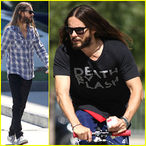 Jared Leto Plays Around Poolside - Watch Here!