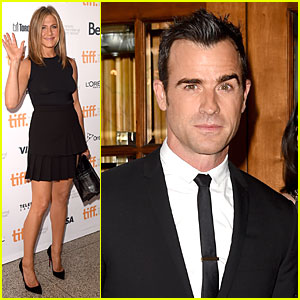 Jennifer Aniston Brings Fiance Justin Theroux To 'Cake' TIFF Premiere