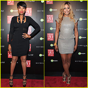 Jennifer Hudson & Laverne Cox Show Off Legs in Short Dresses at 'Instyle' 20th Anniversary Party