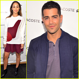 Jesse Metcalfe & Cara Santana Couple Up for 'Lacoste' Show
