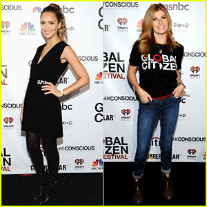 Jessica Alba & Connie Britton Lend Support to Global Citizen Festival 2014!